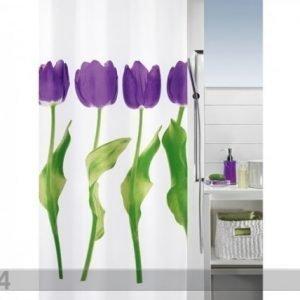 Spirella Kankainen Suihkuverho Tulipa 180x200 Cm