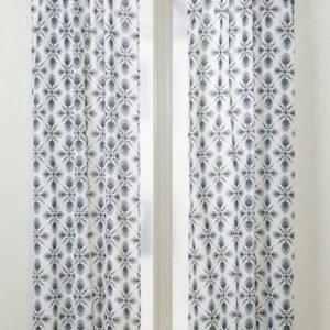 Tilde Piilolenkkiverhot 2-Pakkaus Sininen / Harmaa