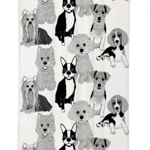Vallila Doggies Verho Black White 140x240 Cm