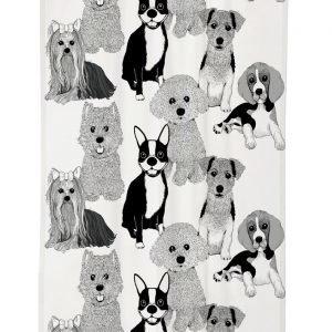 Vallila Doggies Verho Black White 140x240 Cm