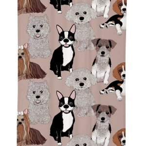 Vallila Doggies Verho Clay 140x240 Cm