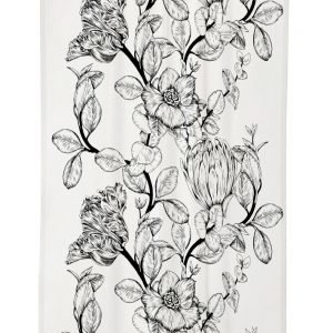 Vallila Gloria Natural Verho Black White 140x250 Cm