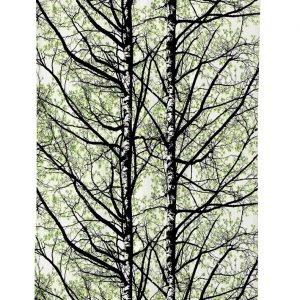 Vallila Pihapuut Verho Green 140x250 Cm