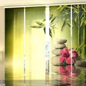 Wellmira Läpinäkyvä Paneeliverho Bamboo Leaves 240x240 Cm