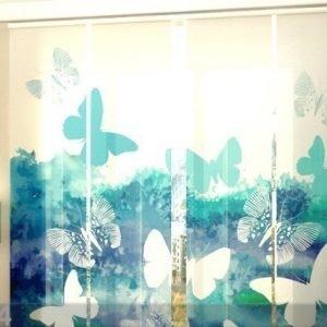 Wellmira Läpinäkyvä Paneeliverho Blue Butterfly 240x240 Cm