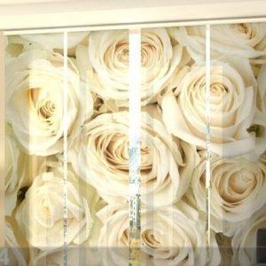 Wellmira Läpinäkyvä Paneeliverho Champagne Roses 240x240 Cm