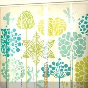 Wellmira Läpinäkyvä Paneeliverho Graphic Flowers 240x240 Cm