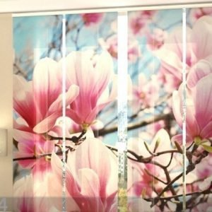 Wellmira Läpinäkyvä Paneeliverho Magnolias 240x240 Cm