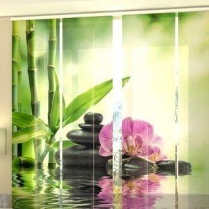 Wellmira Läpinäkyvä Paneeliverho Orchids And Sun 240x240 Cm