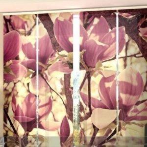 Wellmira Läpinäkyvä Paneeliverho Pink Magnolias 240x240 Cm