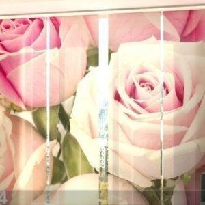 Wellmira Läpinäkyvä Paneeliverho Royal Roses 240x240 Cm