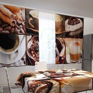 Wellmira Läpinäkyvä Verho Coffee 1