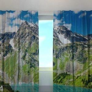 Wellmira Läpinäkyvä Verho Glamorous Mountains 240x220 Cm