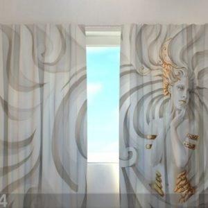 Wellmira Läpinäkyvä Verho Greek Relief 240x220 Cm