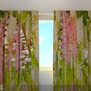 Wellmira Läpinäkyvä Verho Laburnum Flowers 240x220 Cm