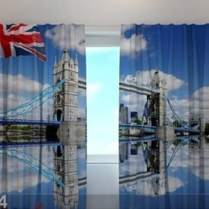 Wellmira Läpinäkyvä Verho London Bridge 240x220 Cm