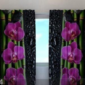 Wellmira Läpinäkyvä Verho Luxury Orchid 240x220 Cm
