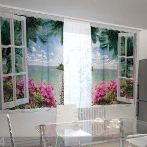 Wellmira Läpinäkyvä Verho Open Window 200x120 Cm
