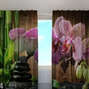 Wellmira Läpinäkyvä Verho Sparkling Orchid 240x220 Cm
