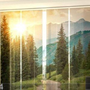 Wellmira Pimentävä Paneeliverho Sun And Mountains 240x240 Cm