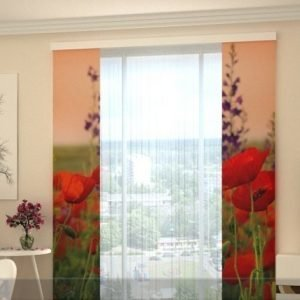 Wellmira Pimentävä Paneeliverho Wonderful Poppies 80x240 Cm