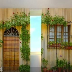 Wellmira Pimentävä Verho Flowers By The Door 240x220 Cm