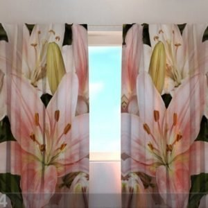 Wellmira Pimentävä Verho Gorgeous Lilies 240x220 Cm