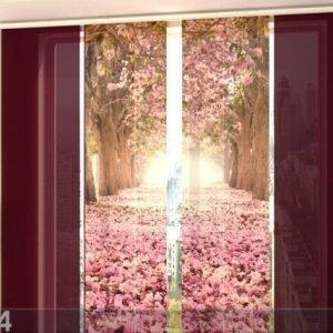 Wellmira Puolipimentävä Paneeliverho Alley Magnolias 240x240 Cm