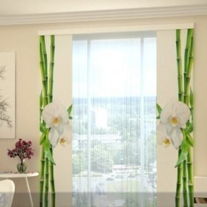 Wellmira Puolipimentävä Paneeliverho Bamboo And White Orchid 80x240 Cm