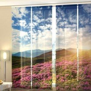 Wellmira Puolipimentävä Paneeliverho Flowers And Mountains 240x240 Cm