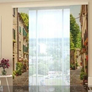 Wellmira Puolipimentävä Paneeliverho Narrow Street In Italy 80x240 Cm