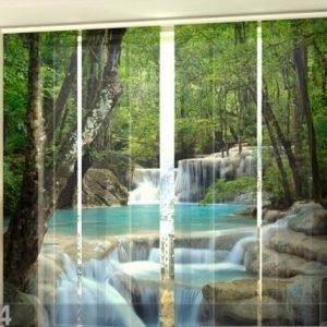 Wellmira Puolipimentävä Paneeliverho Thai Waterfall In Spring 240x240 Cm