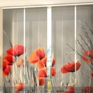 Wellmira Puolipimentävä Paneeliverho Wild Poppies 240x240 Cm