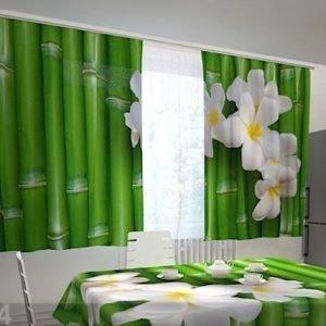 Wellmira Puolipimentävä Verho Bamboo In The Kitchen 200x120 Cm