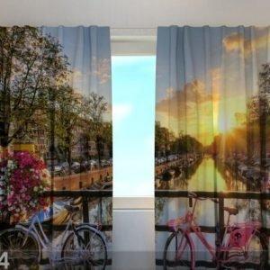 Wellmira Puolipimentävä Verho Beautiful Sunrise Over Amsterdam 240x220 Cm