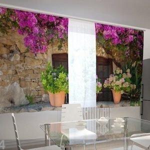 Wellmira Puolipimentävä Verho Flower Pots For The Kitchen 200x120 Cm