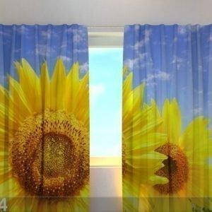 Wellmira Puolipimentävä Verho Flowers On The Sun 240x220 Cm