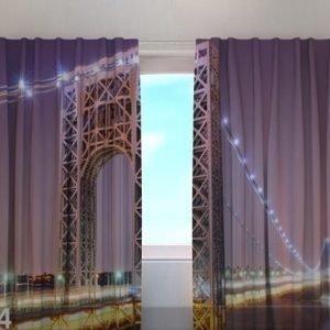 Wellmira Puolipimentävä Verho G.Washington Bridge 220x240 Cm