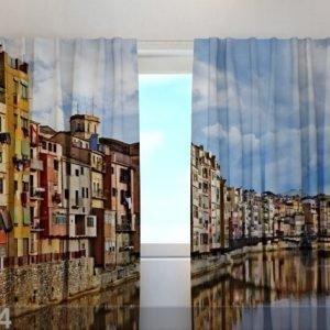 Wellmira Puolipimentävä Verho Girona 240x220 Cm