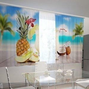 Wellmira Puolipimentävä Verho Hawaii In The Kitchen 200x120 Cm