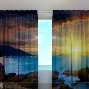 Wellmira Puolipimentävä Verho Illusion 240x220 Cm