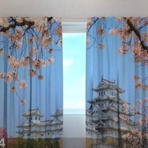 Wellmira Puolipimentävä Verho Japan Himeji Castle 240x220 Cm
