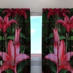 Wellmira Puolipimentävä Verho Lilies In The Garden 240x220 Cm