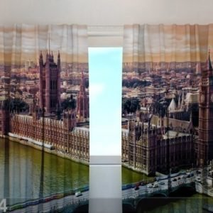 Wellmira Puolipimentävä Verho London 240x220 Cm