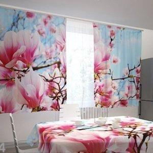 Wellmira Puolipimentävä Verho Magnolias 200x120 Cm