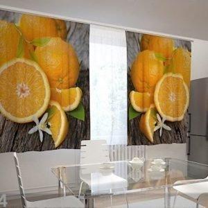 Wellmira Puolipimentävä Verho Oranges 200x120 Cm