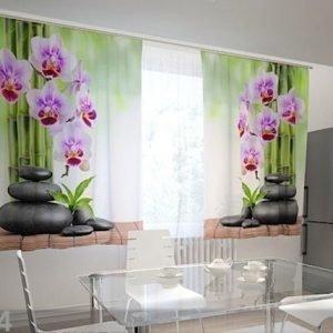 Wellmira Puolipimentävä Verho Orchids And Stones In The Kitchen 200x120 Cm