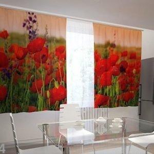 Wellmira Puolipimentävä Verho Wonderful Poppies 200x120 Cm