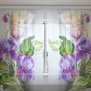 Wellmira Sifonki-Kuvaverho Airy Irises 240x220 Cm