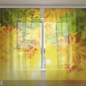 Wellmira Sifonki-Kuvaverho Autumn Flowers 240x220 Cm